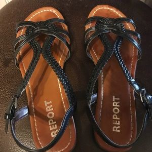 Report braided summer sandals size 8
